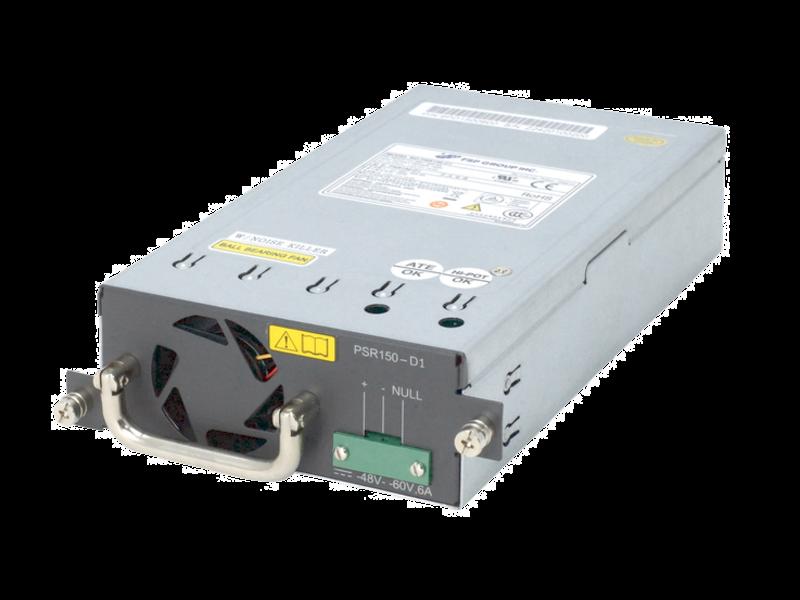 HPE 55XX/51XX 150W DC Power Supply Left facing