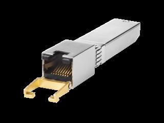 Transceptor HPE 10GBase-T SFP+ Left facing