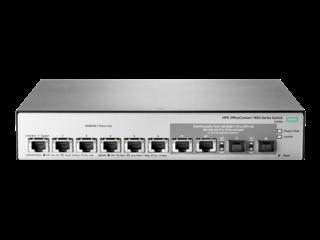 HPE OfficeConnect 1850 6XGT- und 2XGT/SPF+-Switch Center facing