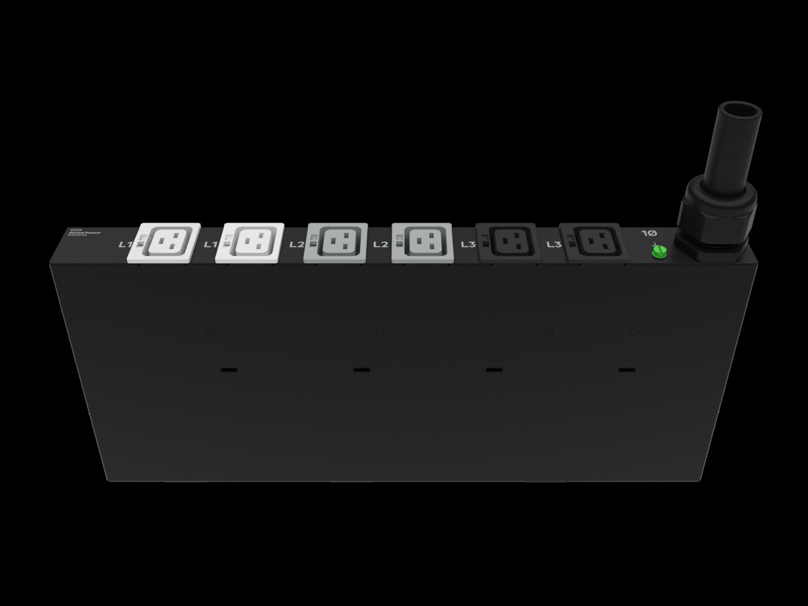 HPE P9Q57A G2 Basic Modular 3Ph 11kVA/60309 5-Wire 16A/230V Outlets (6) C19/1U Horizontal INTL PDU