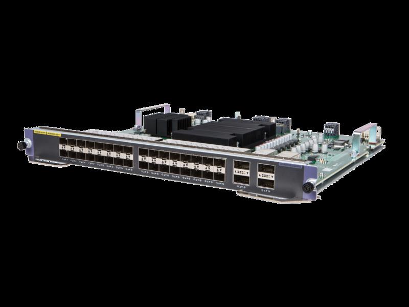 Módulo QSFP+ M2SG HPE FlexNetwork 10500 32 puertos 10GbE SFP/SFP+/4 puertos 40 GbE