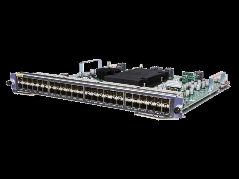 HPE FlexNetwork 10500 48 端口 10GbE SFP/SFP+ MACsec M2SG 模块 Left facing