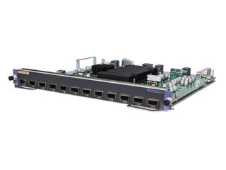 HPE FlexNetwork 10500 12 端口 40GbE QSFP28 M2SG 模块 Left facing