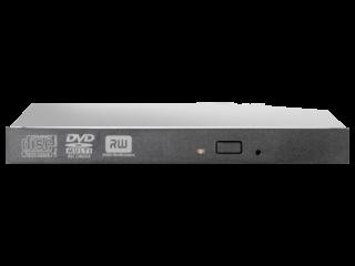 HPE 12.7mm Slim SATA DVD-RW JackBlack Optical Drive Center facing