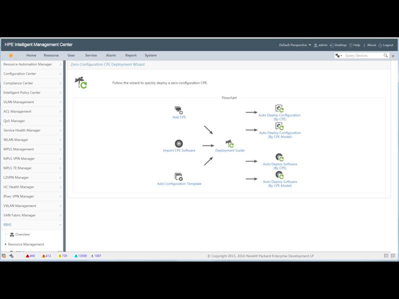Aruba IMC Branch Intelligent Management System 소프트웨어 모듈(50노드 E-LTU 포함) Center facing