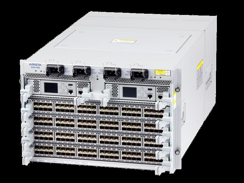 Arista 7500E 데이터 센터 스위치 시리즈 Left facing