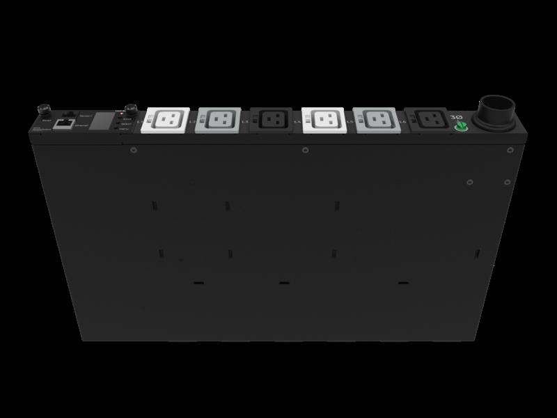 Unité de distribution électrique modulaire HPE G2 avec mesure intégrée, triphasée, 17,3 kVA/60309, 60 A, 4 fils, prises 48 A/208 V (6) C19/1U, montage horizontal (Amérique du nord/Japon) Right facing