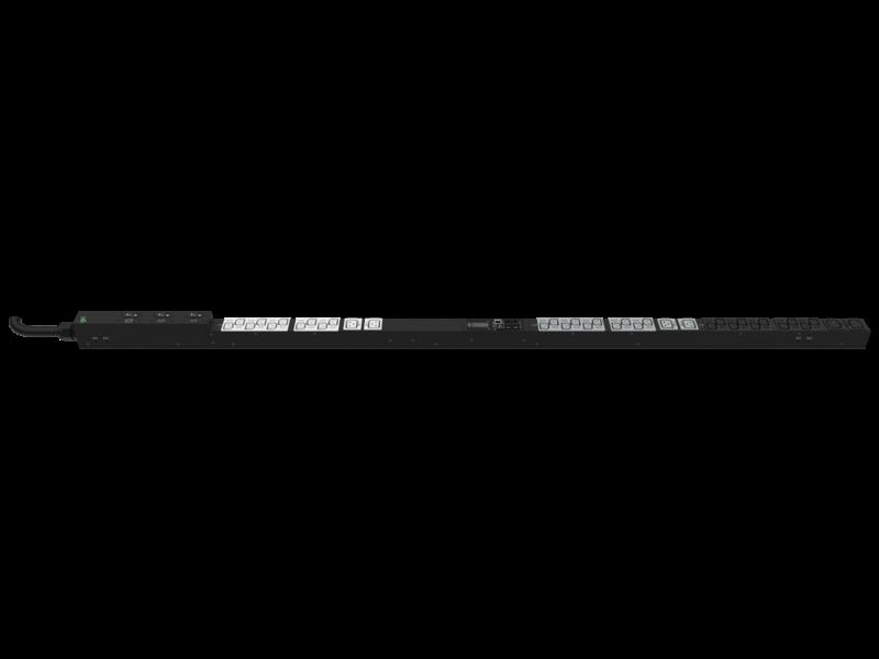 Unité de distribution électrique HPE G2 avec mesure intégrée, triphasée, 10 kVA/CS8365C, prises 35 A/208 V (30) C13 (6) C19/Vertical (Amérique du nord/Japon) Right facing