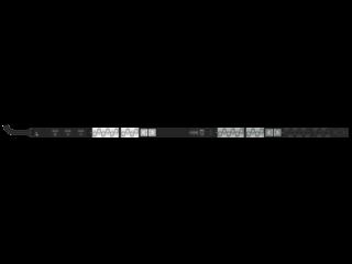 HPE G2 Metered 8.3kVA/CS8265C 40A/208V Outlets (30) C13 (6) C19/Vertical NA/JP PDU Center facing