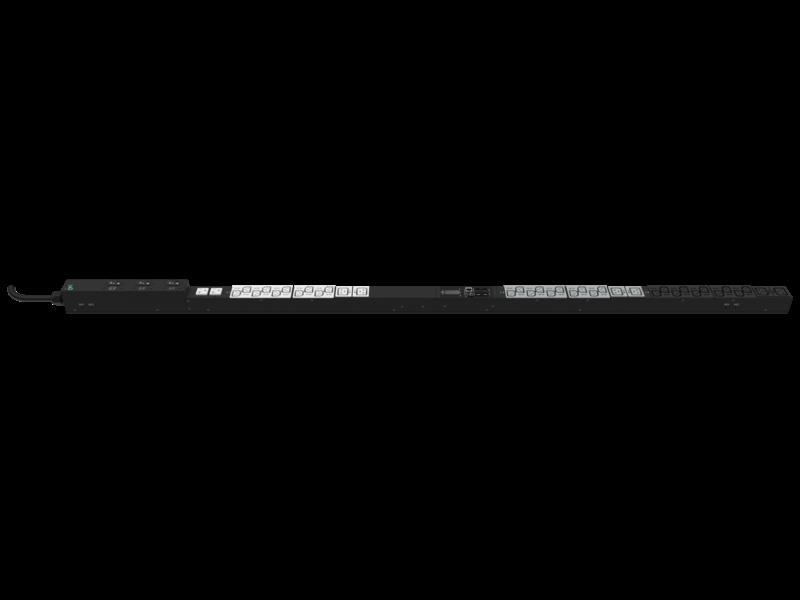 HPE G2 Metered 3Ph 8.6kVA/L21-30P 24A/208V Outlets (30) C13 (6) C19 (2) 5-20R/Vertical NA/JP PDU Right facing
