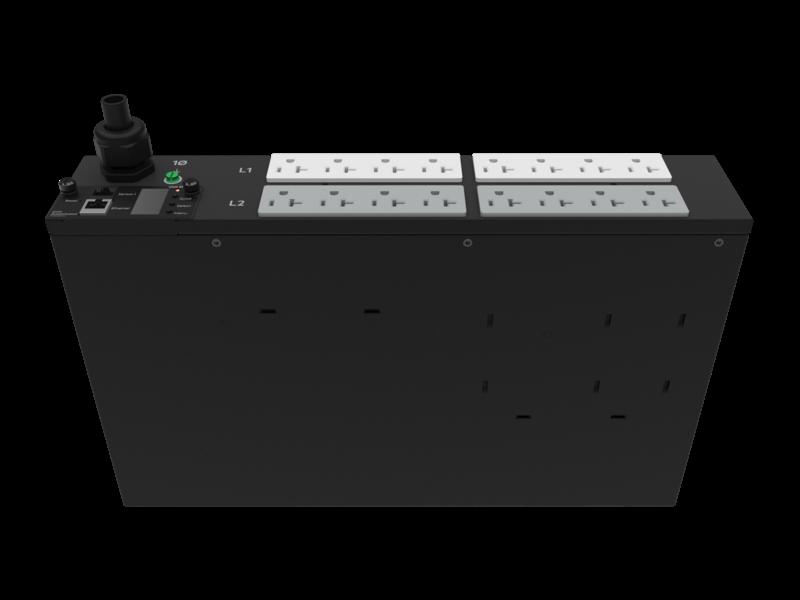 Unité de distribution électrique HPE G2 avec mesure intégrée, 2,8 kVA/L5-30P, prises 24 A/120 V (16) 5-20R/2U, montage horizontal (Amérique du nord/Japon) Right facing