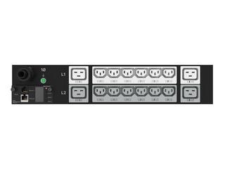 HPE G2 Metered 4.9kVA/L6-30P 24A/208V Outlets (12) C13 (4) C19/2U Horizontal NA/JP PDU Center facing