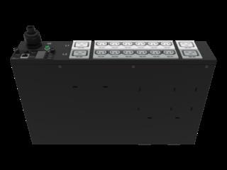 HPE G2 Metered 4.9kVA/L6-30P 24A/208V Outlets (12) C13 (4) C19/2U Horizontal NA/JP PDU Right facing