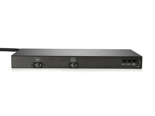 HPE G2 Metered Modular 4.9kVA/L6-30P 24A/208V Outlets (6) IEC C19/1U Horizontal NA/JP PDU Rear facing