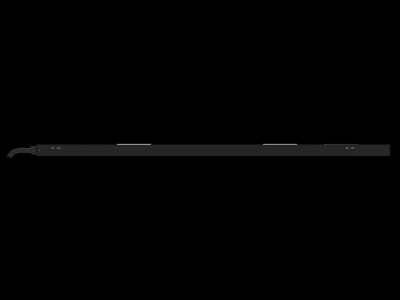 Unité de distribution électrique HPE G2 avec mesure intégrée, triphasée, 8,6 kVA/L15-30P, prises 24 A/208 V (18) C13 (6) C19/Vertical (Amérique du nord/Japon) Rear facing