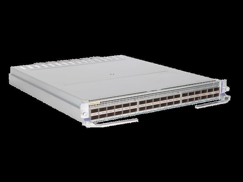 HPE FlexFabric 12900E 18-port 100G QSFP28/18-port 40G QSFP+ HF Module Right facing