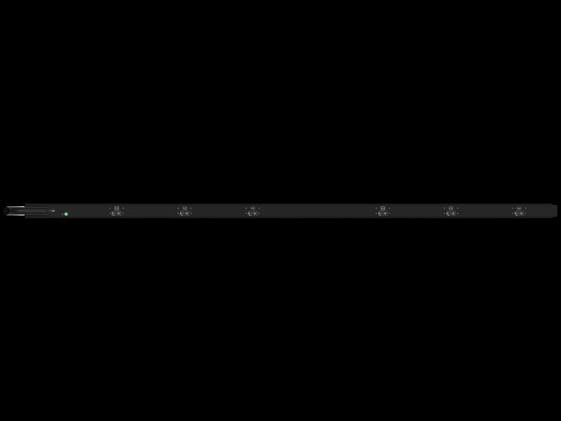 Unité de distribution électrique HPE G2 avec mesure intégrée, triphasée, 17,3 kVA/60309, 60 A, 4 fils, prises 48 A/208 V (36) C13 (12) C19/Vertical (Amérique du nord/Japon) Rear facing