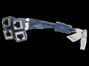 HPE FlexNetwork X260 Mini D-28 到 4-RJ45 0.3 米路由器电缆