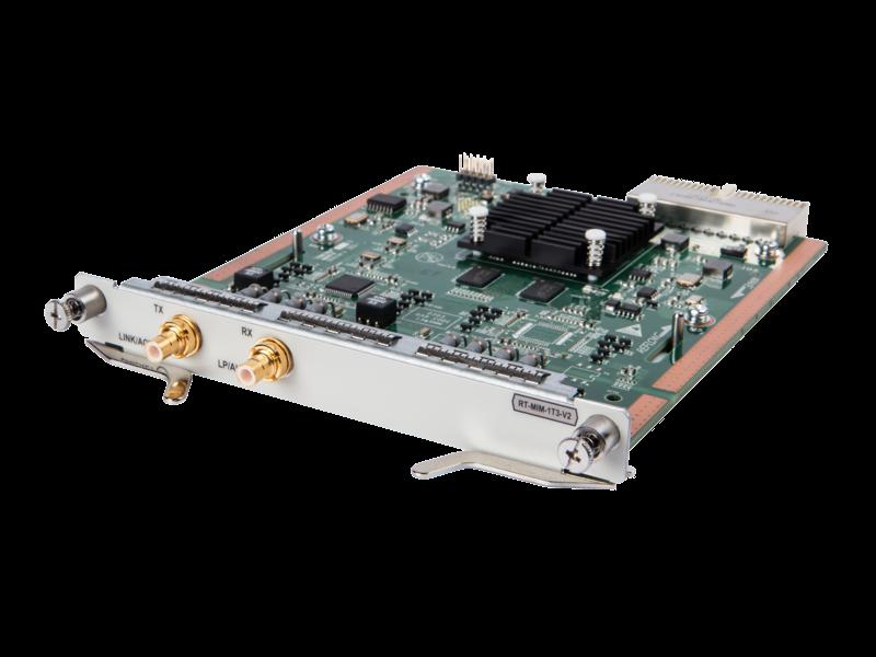 HPE FlexNetwork HSR6800 Clear Channel T3 MIM-Modul mit 1 Anschluss Left facing