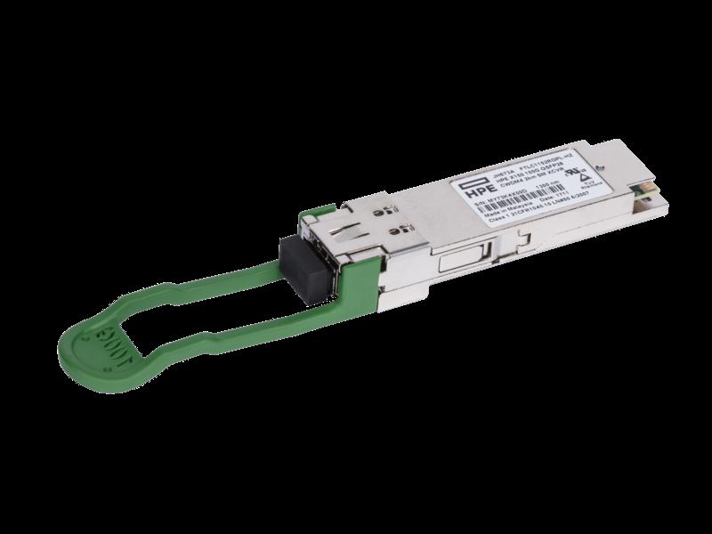 HPE X150 100G QSFP28 CWDM4 2km SM Transceiver Left facing