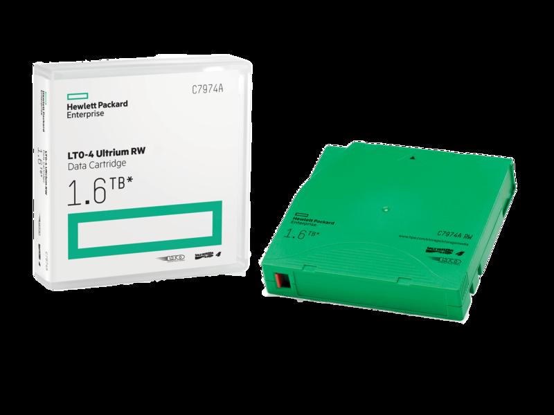 HPE LTO4 Ultrium 1.6TB Read/Write データ テープ カートリッジ Center facing