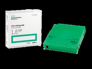 HP LTO4 Ultrium 1.6TB Read/Write Data Cartridge Center facing