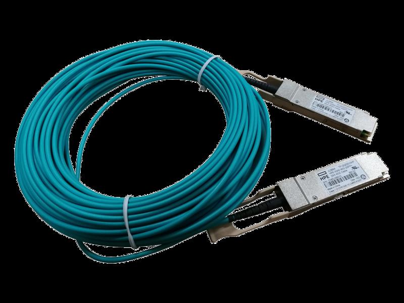 Cable de fibra óptica activo 40G QSFP+ a QSFP+ de 20 m HPE X2A0 Center facing