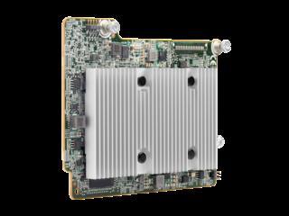 HPE Smart Array P408e-m SR Gen10 (8 External Lanes/2GB Cache) 12G SAS Mezzanine Controller Left facing