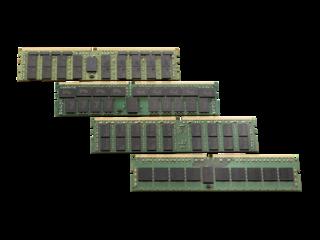 Kit de memoria registrada HPE de rango único x4 DDR4-2666 de 16 GB (1 x 16 GB) CAS-19-19-19 Center facing