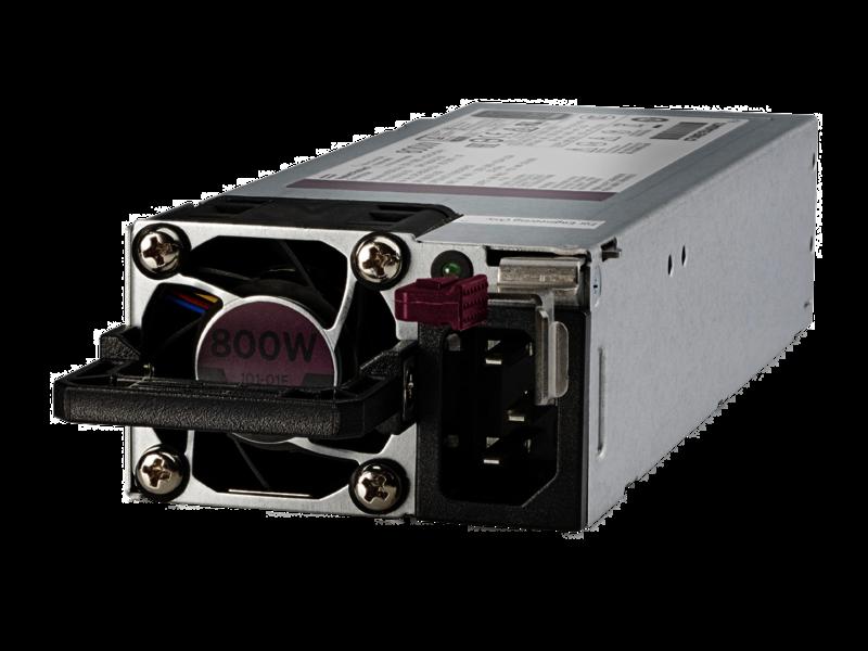 Kit de fuente de alimentación hot-plug de bajo contenido en halógenos y ranura flexible de 800 W HPE Titanium Left facing