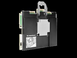 HPE Smart Array E208i-c SR Gen10 (8 Internal Lanes/No Cache) 12G SAS Modular Controller Left facing