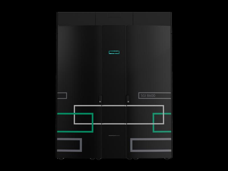HPE SGI 8600 System Center facing