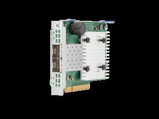 Adaptador de red convergente HPE Ethernet de 10 Gb y 2 puertos 622FLR-SFP28 Left facing
