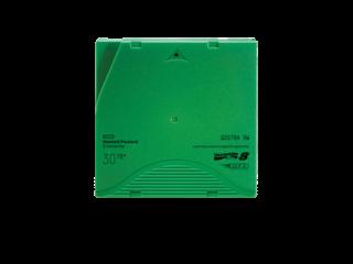 HPE LTO-8 Ultrium 30TB RW Data Cartridge Left facing horizontal