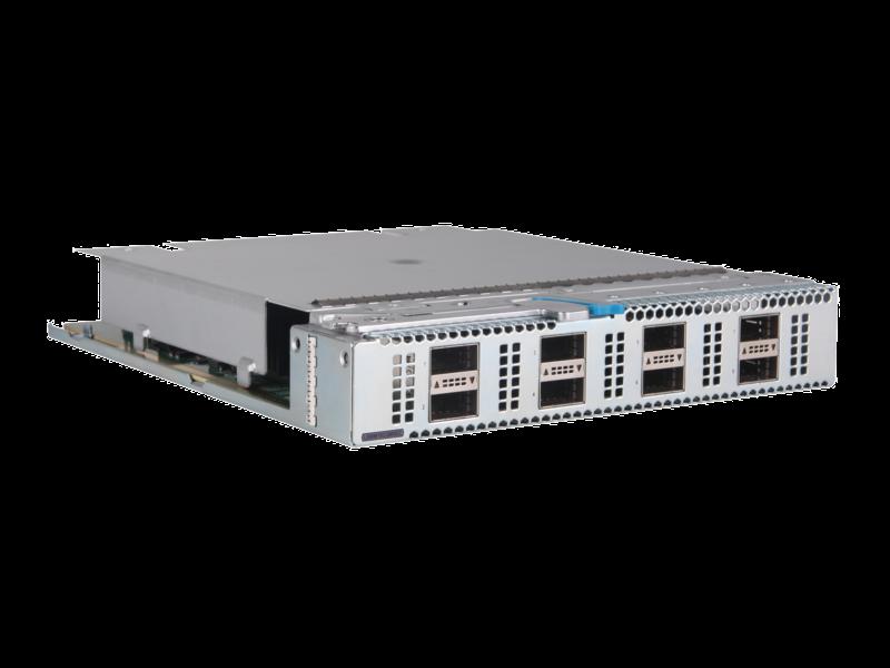 HPE FlexFabric 5950 8-port QSFP28 MACsec Module Right facing