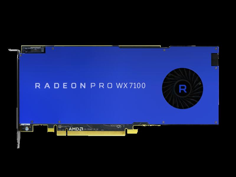 HPE AMD Radeon Pro WX7100 Graphics Accelerator Center facing