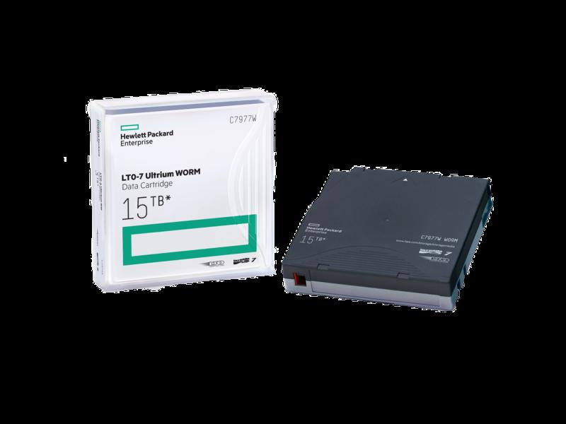 HPE LTO-7 Ultrium WORM 사용자 지정 레이블 표시 데이터 카트리지 20팩 Center facing