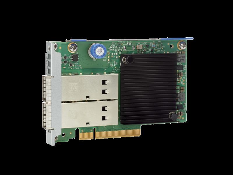 HPE InfiniBand FDR/Ethernet 40/50Gb 2-port 547FLR-QSFP Adapter Left facing