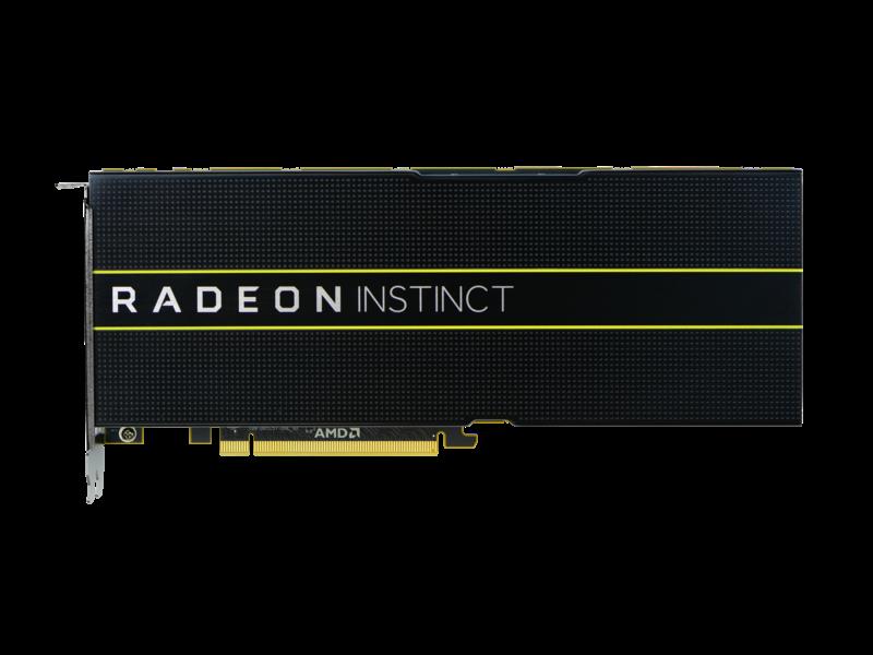 HPE AMD Radeon Instinct MI25 Graphics Accelerator Center facing