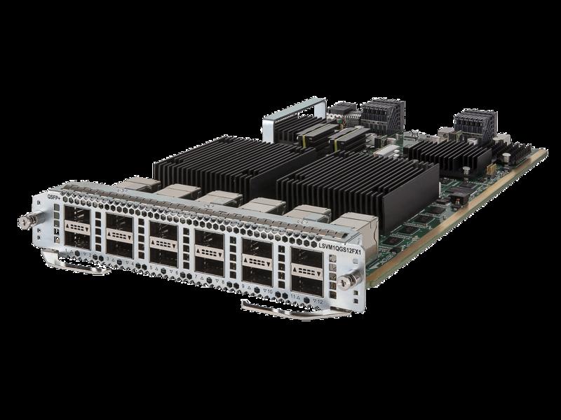 Módulo 40GbE QSFP+ FX de 12 puertos para HPE FlexFabric 7900 Left facing