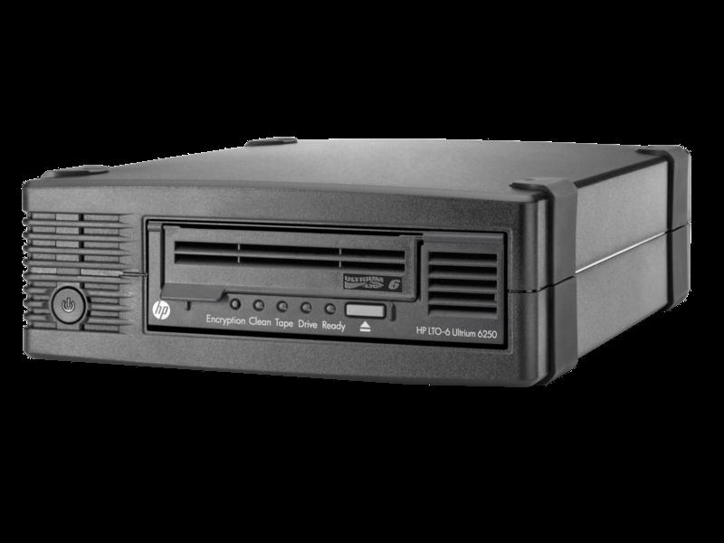 HPE StoreEver LTO-6 Ultrium 6250 External Tape Drive Left facing