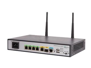 Routeur HPE MSR954-W 1GbE SFP (utilisation mondiale) 2GbE-WAN 4 GbE-LAN sans fil 802.11n CWv7 Left facing