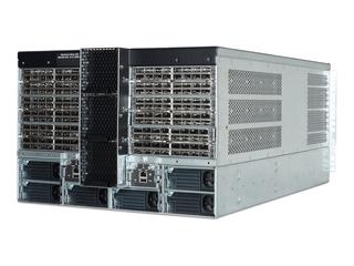 インテルOmni-Pathアーキテクチャー192ポートQSFP28ディレクタースイッチシャーシ Left facing