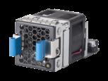 2 HPE X712 Hochleistungs-Lüftereinschübe für Luftstrom von hinten (Netzanschluss) nach vorne (Anschlussseite)