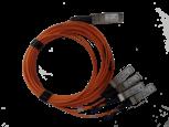 Cabo Óptico Ativo HPE 40 GbE QSFP+ para 4x10 GbE SFP+ 5m