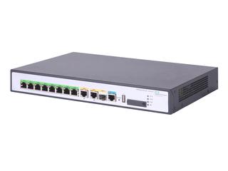 HPE FlexNetwork MSR958 1GbE 和 Combo 2GbE WAN 8GbE LAN PoE 路由器 Left facing
