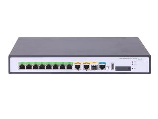 HPE FlexNetwork MSR958 1GbE 和 Combo 2GbE WAN 8GbE LAN 路由器 Center facing