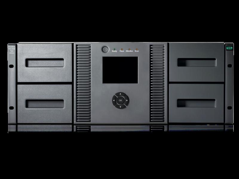 HPE StoreEver MSL4048 テープライブラリ (0ドライブ) Center facing