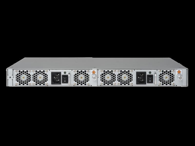 HPE StoreFabric SN6600B 32Gb 48/48 48ポート32Gb短波SFP+統合FCスイッチ Rear facing