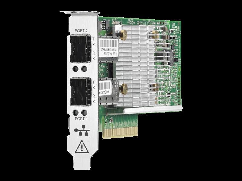 Carte réseau convergé HPE StoreFabric CN1100R, double port Right facing